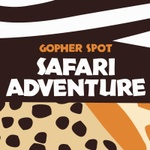 Gopher Spot Safari Adventure Logo in Animal Print