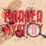 Murder Mystery with footprints and a magnifying glass