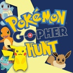 Pokemon Gopher Hunt with a lightning bolt, and five Pokemon characters.