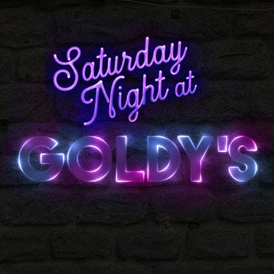 Saturday Night at Goldy's Logo