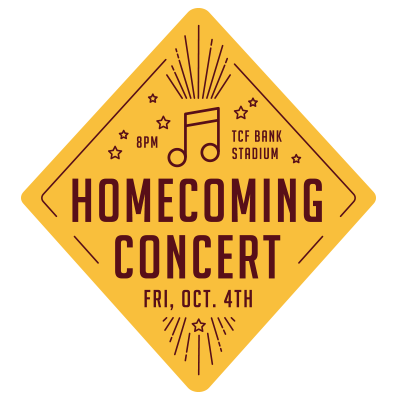Homecoming Concert Event Feed Graphic