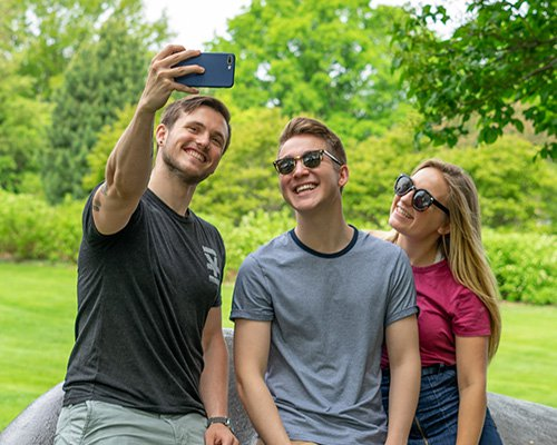 Three University of Minnesota Students taking a selfie